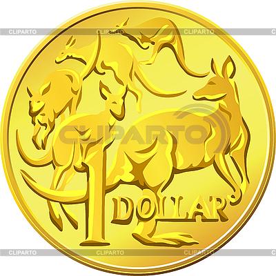Australischer Dollar-Münze mit dem Bild des Kangaro | Stock Vektorgrafik |ID 3049293
