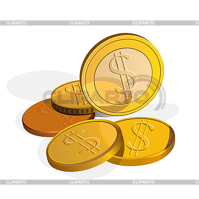 Dollar coins | Stock Vector Graphics |ID 3059019