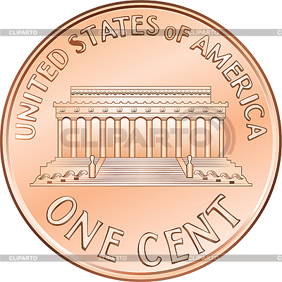 American coin one cent, penny | Stock Vector Graphics |ID 3059031
