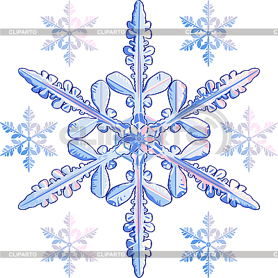 Transparent snowflake | Stock Vector Graphics |ID 3061422
