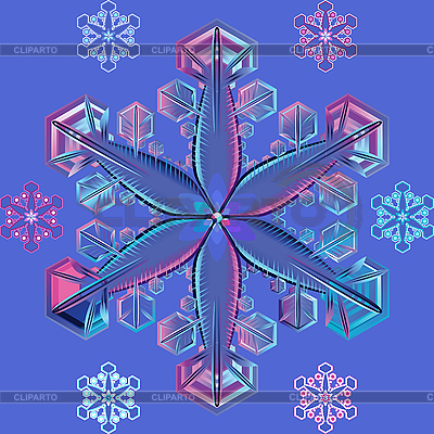 Blue transparent snowflake | Stock Vector Graphics |ID 3061424