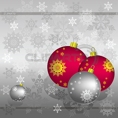 Christmas card with balls | Stock Vector Graphics |ID 3063290
