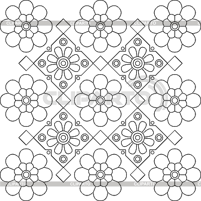 Flower design elements black and white | Stock Vector Graphics |ID 3070017