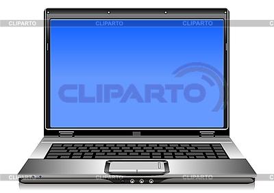 오픈 실버 노트북 | 벡터 클립 아트 |ID 3070638