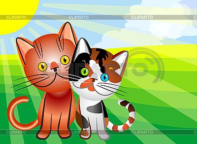 Cat love | Stock Vector Graphics |ID 3070652