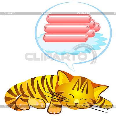 Cat`s dreams   Stock Vector Graphics  ID 3070656