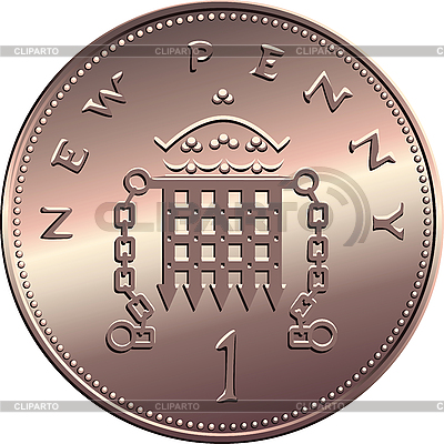 British penny coin | Stock Vector Graphics |ID 3071516
