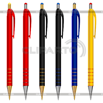 Set of pens | Stock Vector Graphics |ID 3071532