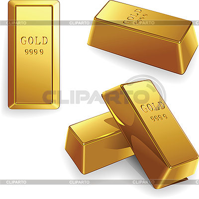 Set of gold bars | Stock Vector Graphics |ID 3076793