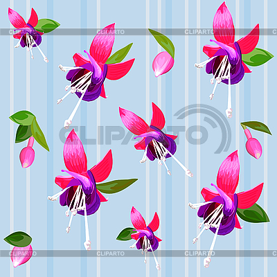 Background with flower fuchsia | Stock Vector Graphics |ID 3081320