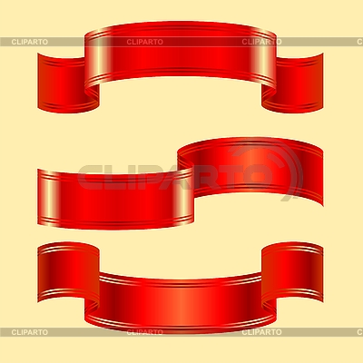 Set of red ribbons | Stock Vector Graphics |ID 3081359