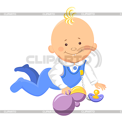Baby learns to crawl | Stock Vector Graphics |ID 3081524