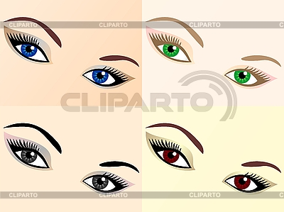 Set of eyes | Stock Vector Graphics |ID 3094793