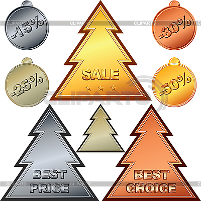 Christmas Set of Price tags | Stock Vector Graphics |ID 3095347