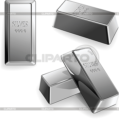 Set of silver bars | Stock Vector Graphics |ID 3121838