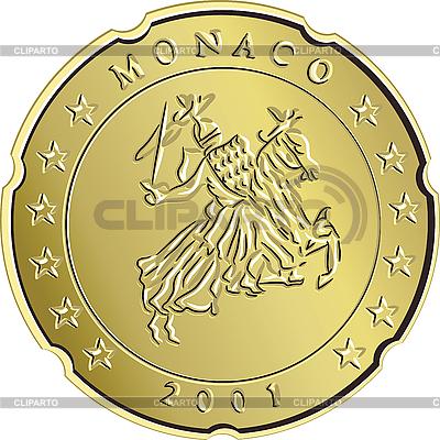 Eurocent coin monaco | Stock Vector Graphics |ID 3124523