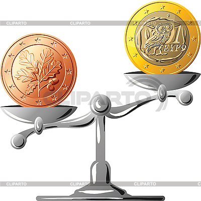 German euro versus Greek euro | Stock Vector Graphics |ID 3135950