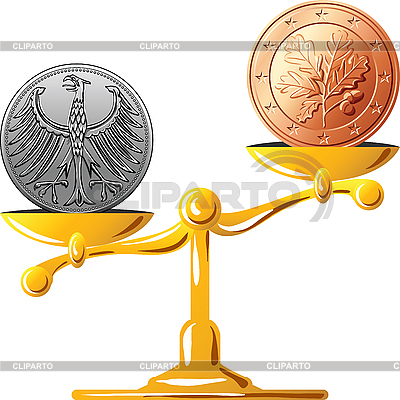 Deutsch Marke gegenüber dem Euro | Stock Vektorgrafik |ID 3135952
