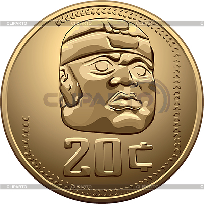 Mexican coin with the Indian | Stock Vector Graphics |ID 3250334