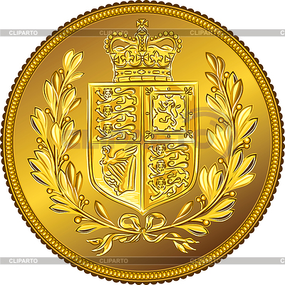 British Sovereign coin with coat of arms | Stock Vector Graphics |ID 3284380
