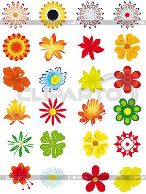 Sammlung von einfachen Blumen | Stock Vektorgrafik |ID 3055435