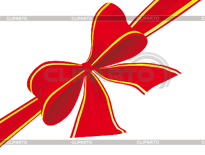 빨간 리본의 큰 활 | 벡터 클립 아트 |ID 3055983