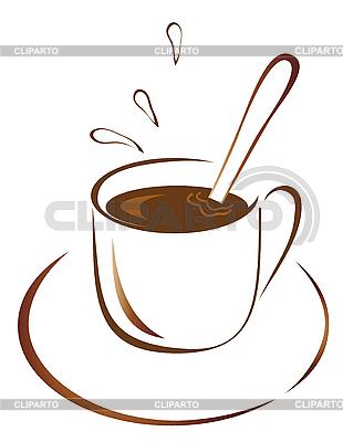 Filiżanka gorącej kawy | Klipart wektorowy |ID 3056001