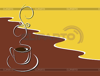 뜨거운 블랙 커피 컵 | 벡터 클립 아트 |ID 3058445
