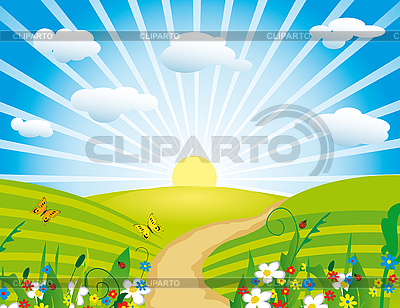 Flowering meadow | Stock Vector Graphics |ID 3066876