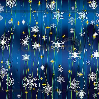 Weihnachts-Hintergrund mit weißen Schneeflocken | Stock Vektorgrafik |ID 3066897