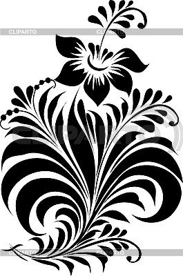 俄罗斯传统的以hohloma装饰 | 向量插图 |ID 3059910