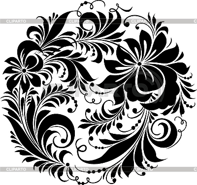 Russian traditional Hohloma ornament | Stock Vector Graphics |ID 3059914