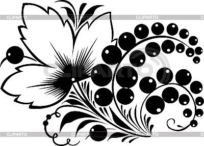 俄罗斯传统的以hohloma装饰 | 向量插图 |ID 3059922