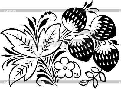 俄罗斯传统的以hohloma装饰 | 向量插图 |ID 3059926