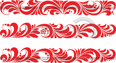 Хохломской орнамент | Векторный клипарт |ID 3059938