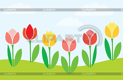 Blühende Tulpen | Stock Vektorgrafik |ID 3059954
