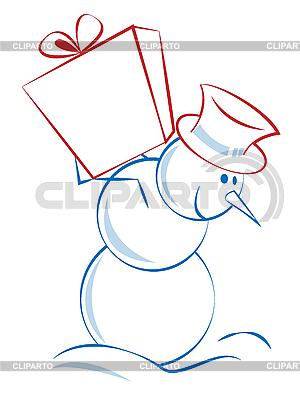 선물 크리스마스 눈사람 | 벡터 클립 아트 |ID 3052504