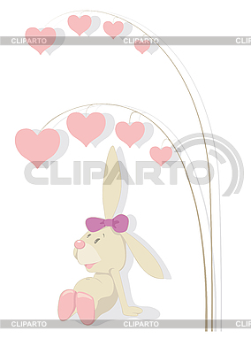 Rabbit and tree of hearts | Stock Vector Graphics |ID 3052615