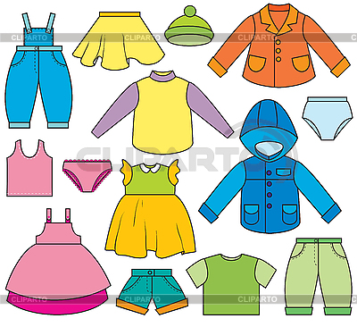 Ubrania dla dzieci `s | Klipart wektorowy |ID 3052647