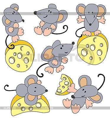 Mysz i ser | Klipart wektorowy |ID 3052687