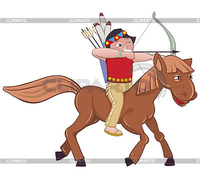 Indian na konia | Klipart wektorowy |ID 3052903