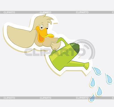 Duck i konewka | Klipart wektorowy |ID 3052937