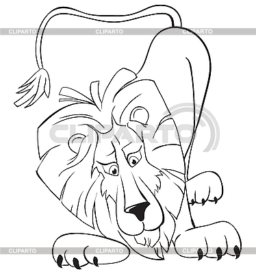 Surprised lion | Stock Vector Graphics |ID 3052963