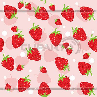 Seamless strawberry background | Stock Vector Graphics |ID 3053045