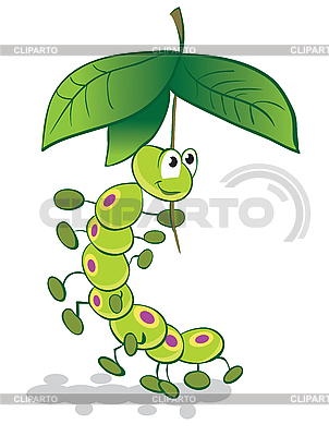 Caterpillar and umbrella | Stock Vector Graphics |ID 3054088