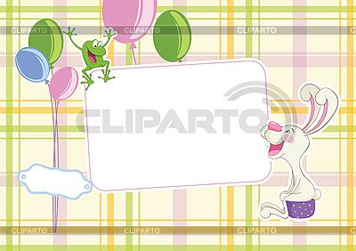 婴儿框架背景 | 向量插图 |ID 3054871