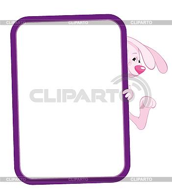 Rahmen mit Kaninchen | Stock Vektorgrafik |ID 3054885