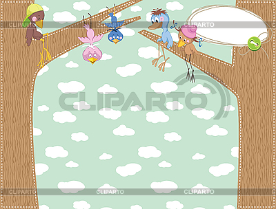 Baby frame with birds | Stock Vector Graphics |ID 3054964