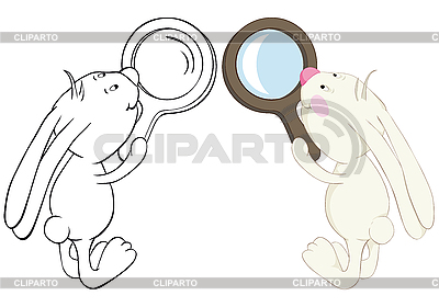 Bunny and loupe | Stock Vector Graphics |ID 3055004