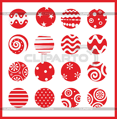 Christmas balls | Stock Vector Graphics |ID 3055008